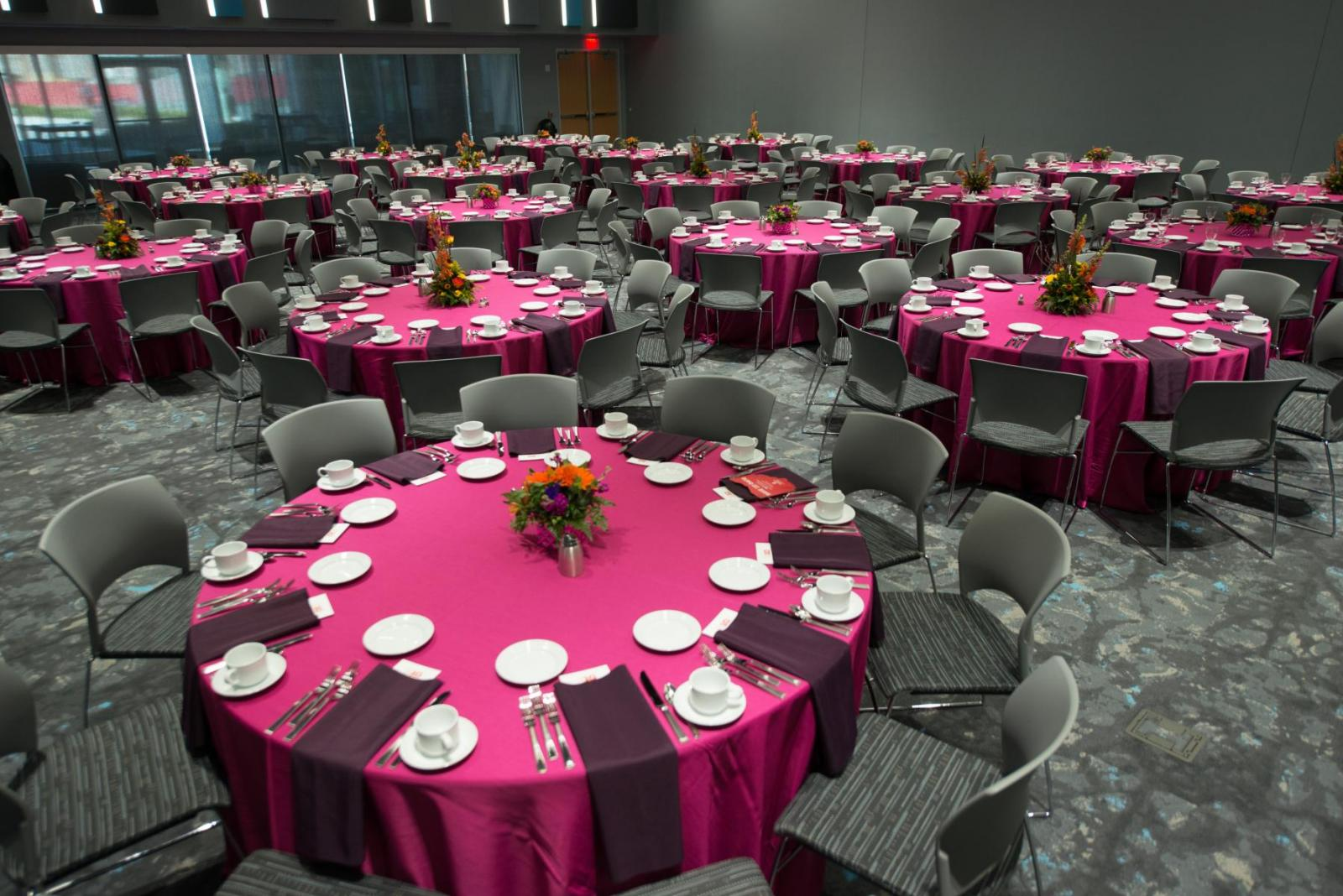 Red Cloud conference room reception set-up