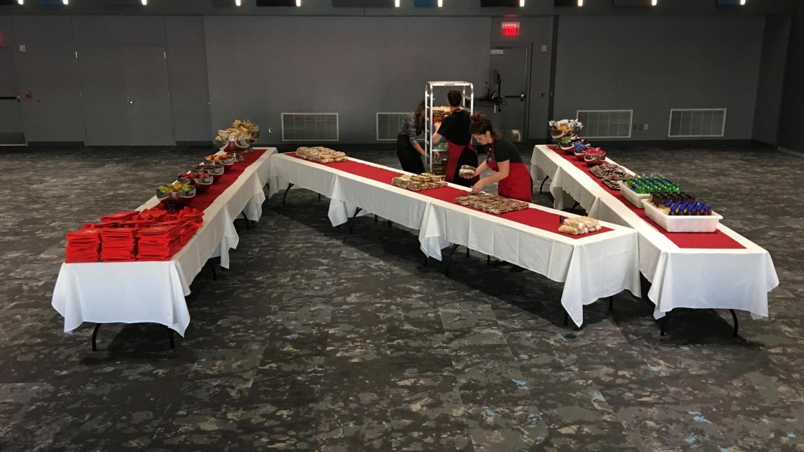 'N' table in Red Cloud Room